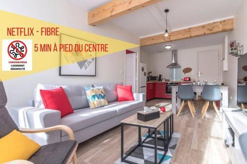 Cosy Red 4 Pers - Neuf et au Calme - Fibre-Netflix - Location saisonnière - Montauban