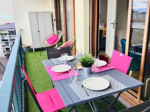 Appartement confortable pleins sud lac et montagne pleins centre proche therme - Location saisonnière - Thonon-les-Bains