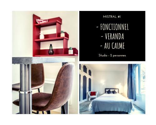 MISTRAL #1 - Studio chic - 1 chambre - Location saisonnière - Brive-la-Gaillarde