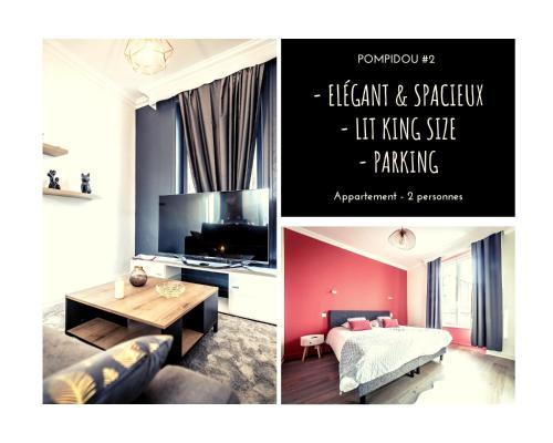 POMPIDOU #2 - Chic & Elégant - 1 chambre - Location saisonnière - Brive-la-Gaillarde