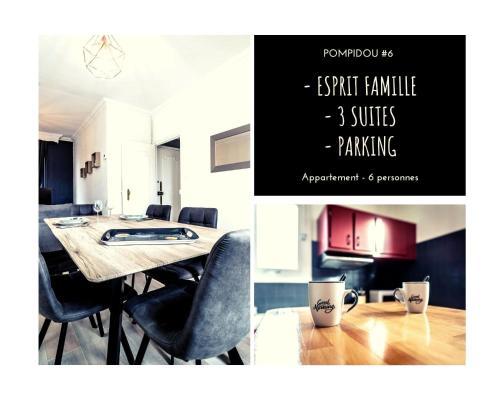 POMPIDOU #6 - Esprit maison de famille - 3 suites - Location saisonnière - Brive-la-Gaillarde