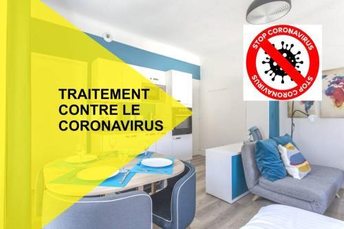 Zen Studio Les Thermes - Challes Centre - Parking - Apartment - Challes-les-Eaux