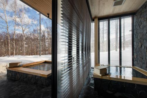 Hanaridge Luxury 5Bdrm (natural) Onsen Residence - Accommodation - Niseko
