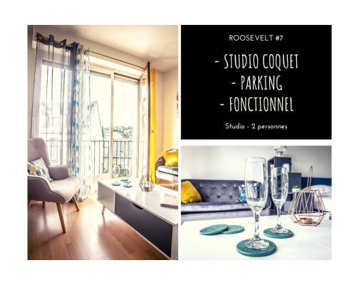 ROOSEVELT #7 - Studio coquet - 1 chambre - Location saisonnière - Brive-la-Gaillarde