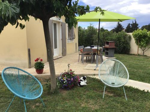 La petite maison des Muses jardin piscine pour 4 à 6 pers campagne Arlésienne - Location saisonnière - Arles