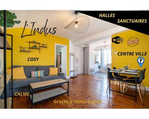 L'INDUS T2--HYPER CENTRE--TOUT CONFORT--WIFi - Location saisonnière - Lourdes