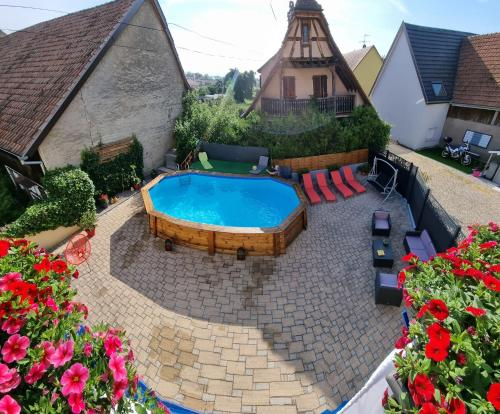 . Appartement de 2 chambres a Biesheim avec piscine partagee terrasse amenagee et WiFi