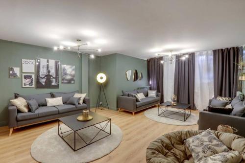 Luxueux & spacieux appartement, 125m2, République - Location saisonnière - Paris