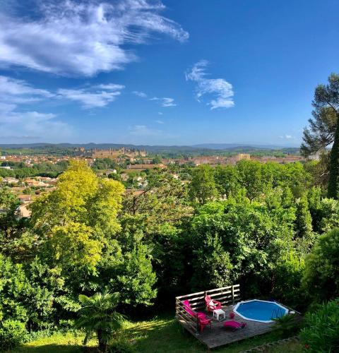 Appartement cosy vue imprenable Cité, piscine privée - Location saisonnière - Carcassonne