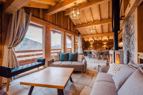 Chalet ''la cabane ô Pierres'' 12 pers spa et sauna - Hotel - Ventron
