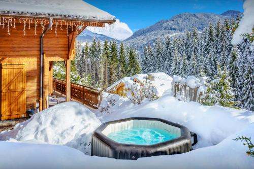 French Alps ski chalet for 8 with great views jacuzzi and games room for the perfect family vacation - Chalet - Saint Jean de Sixt