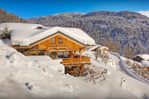 Contemporary alpine chalet in Megève sleeps 14 with panoramic views hot tub sauna & wine cellar close to slopes - Chalet - La Giettaz en Aravis
