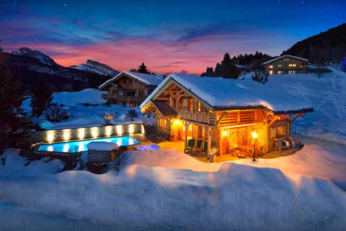 Peaceful chalet relax in heated pool & spa stunning views - OVO Network - Chalet - Saint Jean de Sixt