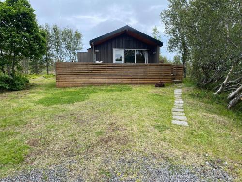 Cabin in the lava. Near Húsavík