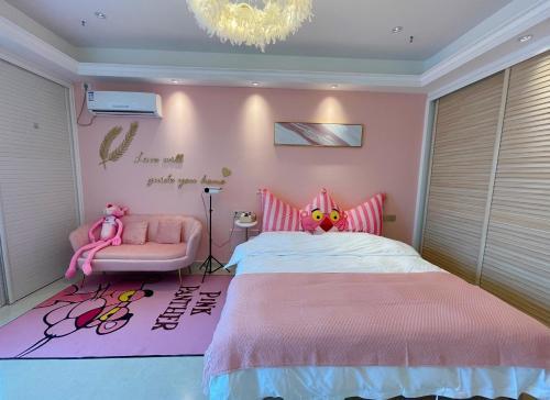 Pink Panther Theme Homestay - Accommodation - Wenzhou