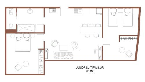 Junior Suite für Familien Hotel Calle Mayor 12