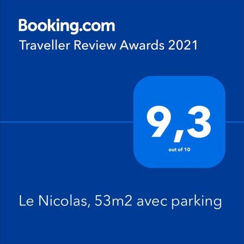 Nicolas III, 53m2, confortable et calme, 2 chambres, balcon, parking