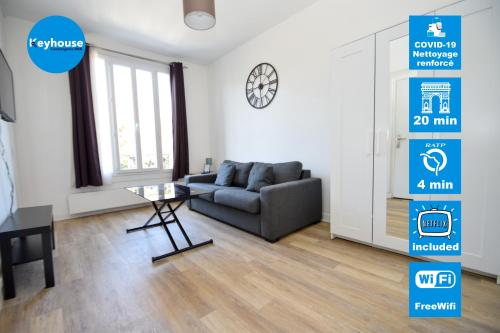 Superbe studio 2 pers tout équipé PARKING, WIFI - Location saisonnière - Montreuil