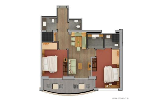 Two-Bedroom Apartment with Balcony - Top 5