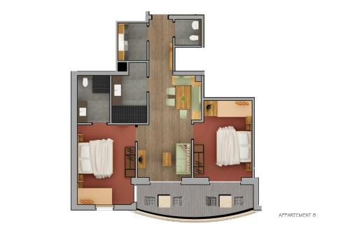 Two-Bedroom Apartment with Balcony - Top 8