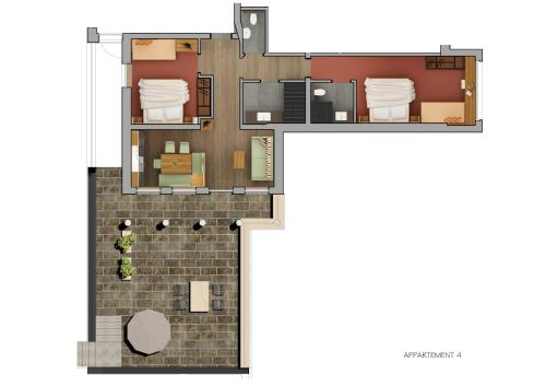 Two-Bedroom Apartment with Terrace - Top 4