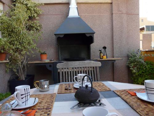 Apartment with 2 bedrooms in Port de Sagunt with wonderful mountain view enclosed garden and WiFi 900 m from the beach