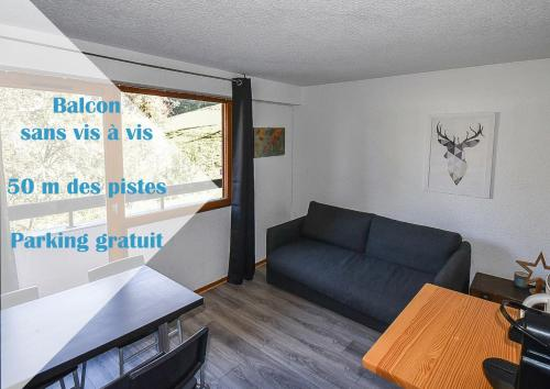 Les Cimes, Chaleureux studio 4 pers, 50m du télécabine, vue dégagée sur les pistes - Apartment - Saint-Jean-d'Aulps