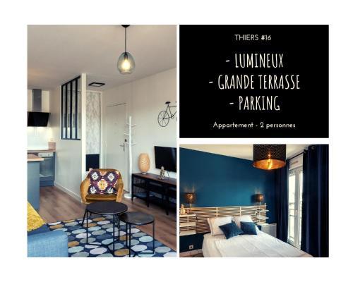THIERS #16 - Appart avec terrasse - 1 Chambre - Location saisonnière - Brive-la-Gaillarde