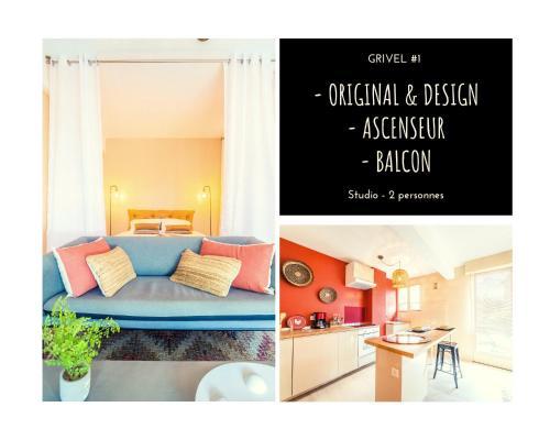 GRIVEL #1 - Studio avec balcon - 1 Chambre - Location saisonnière - Brive-la-Gaillarde