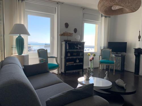 Appartement Villa Chausey, vue sur le port - Location saisonnière - Granville