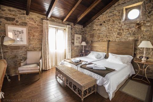 Doppel- oder Zweibettzimmer - Einzelnutzung Hotel Rustico Lugar Do Cotariño 57