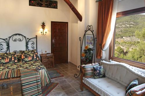 Junior Suite mit Balkon - Einzelnutzung Hotel Rural Masía la Mota 13