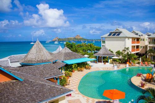 Reduit Beach, Rodney Bay, Gros Islet, Saint Lucia, Caribbean.