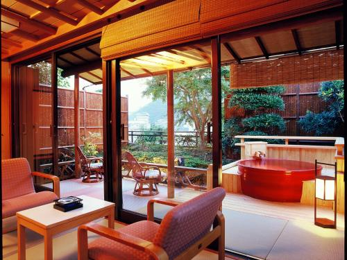 Japanese-Style Twin Room with Open Air Bath (Room Only)