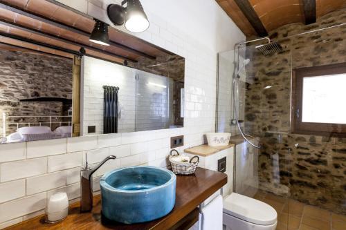 Habitación Doble con baño privado - Uso individual Hotel Mas la Ferreria 5