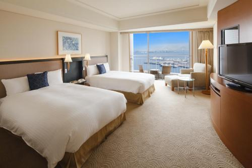 海灣景奢華海洋雙床間- 可吸煙 (Luxury Ocean Twin Room with Bay View - Smoking)