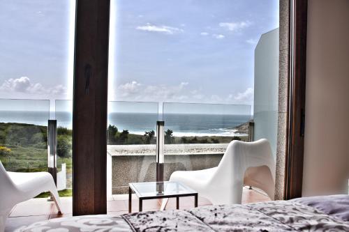 Double or Twin Room with Sea View Hotel Naturaleza Mar da Ardora Wellness & Spa 13