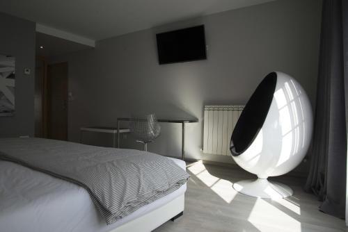 Habitación Deluxe con cama extragrande Lar de Donas 4