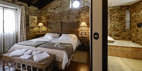 Doppel- oder Zweibettzimmer - Einzelnutzung Hotel Rustico Lugar Do Cotariño 58