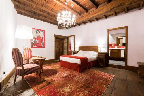 Habitación Doble Deluxe con bañera de hidromasaje - 1 o 2 camas Pazo da Pena Manzaneda 1