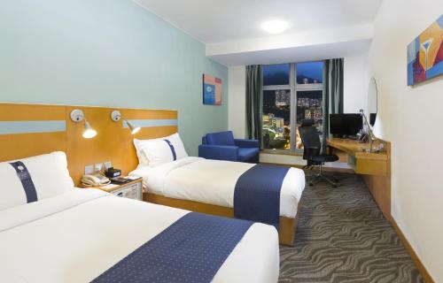 Holiday Inn Express Hong Kong Causeway Bay Двухместный номер с 2 отдельными кроватями и диваном-кроватью – Для некурящих