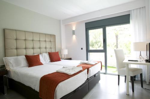 Doppel- oder Zweibettzimmer mit Gartenblick und Zugang zum Spa - Einzelnutzung Hotel Spa Niwa 13