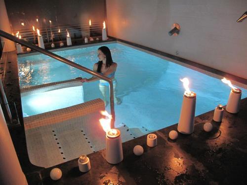 Doppel- oder Zweibettzimmer mit Gartenblick und Zugang zum Spa - Einzelnutzung Hotel Spa Niwa 18