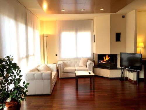 Suite con chimenea y acceso al spa Hotel Del Lago 34