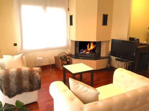 Suite con chimenea y acceso al spa Hotel Del Lago 40