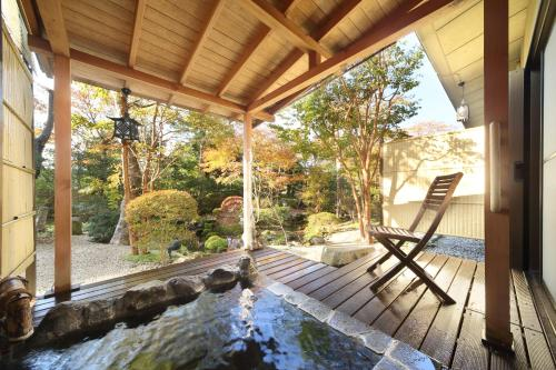 2017 July 13 Renovated - Japanese-Style Room with Outdoor Hot Spring with Garden View