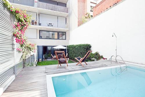 My Space Barcelona Private Pool Garden impression