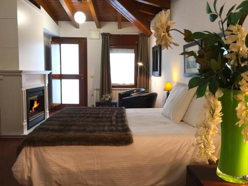 Habitación Doble Superior con chimenea y acceso al spa Hotel Del Lago 22