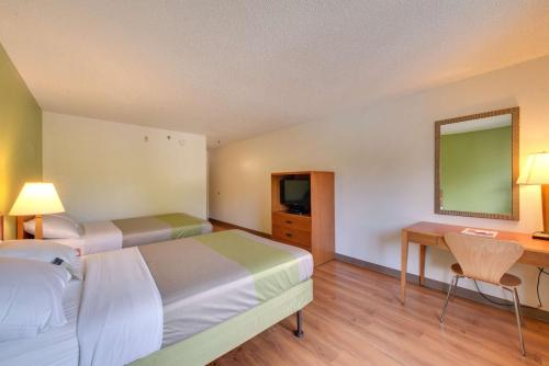 Double Room with Two Double Beds and Mini Fridge