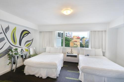 Superior City View, 2 Double Beds